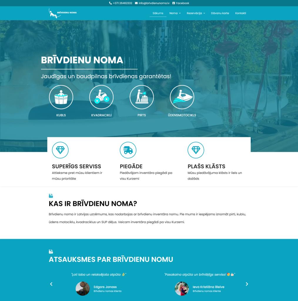 mājaslapas izstrāde mājaslapas izveide mājas lapa brīvdienu noma mbc solutions